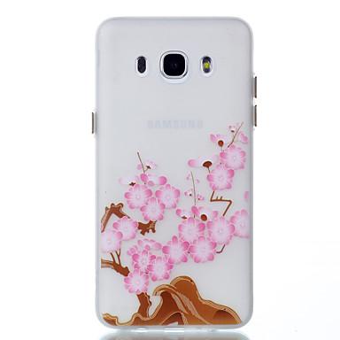 Uyumluluk Kılıflar Kapaklar Karanlıkta Parlayan Arka Kılıf Pouzdro Çiçek Yumuşak TPU için Samsung Galaxy J5 (2016) J3 J3 (2016)