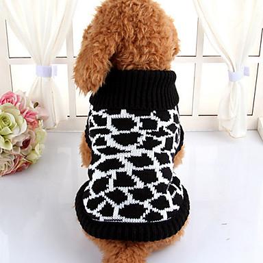 Köpek Kazaklar Köpek Giyimi Sevimli Günlük/Sade Çizgi Siyah