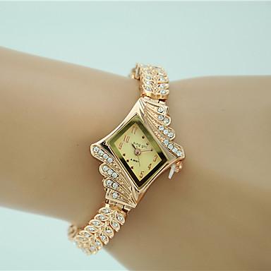 Damskie Kwarcowy Zegarek na bransoletce sztuczna Diament Stop Pasmo Urok Do sukni / garnituru Elegancki Modny Złoty