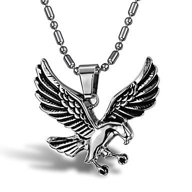 męska styl punk uroku wisiorek naszyjnik ze stali nierdzewnej 316L retro rzeźba orła kształtu biżuterii