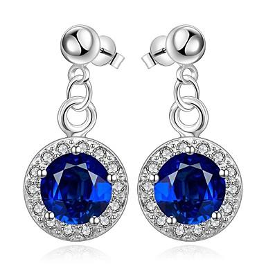 Kolczyki wiszące Kryształ Cyrkonia Kryształ Cyrkon Miedź Niebieski Biżuteria Na Codzienny Casual 1 para
