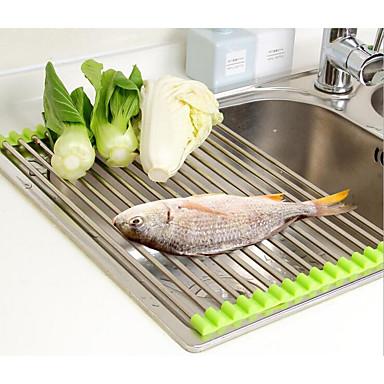1PC الرفوف وشمعدانات ستانلس ستيل سهلة الاستخدام مطبخ