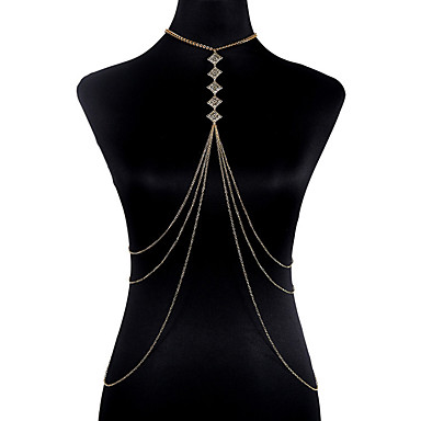 Κοσμήματα Σώματος Body Αλυσίδα / κοιλιά Αλυσίδα Μοντέρνα Βοημία Style κοστούμι κοστουμιών Κράμα Geometric Shape Κοσμήματα Για Πάρτι