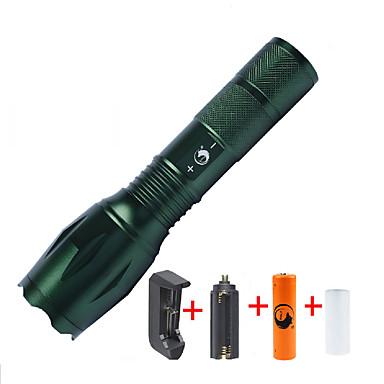 U'King Latarki LED LED 2000 lm 5 Tryb Cree XM-L T6 z baterią i ładowarką Zoomable Regulacja promienia Przysłonięcia Niewielki rozmiar