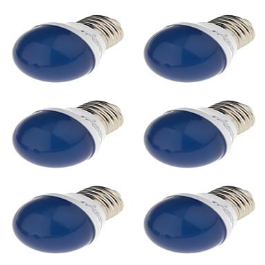 6szt 3W 240 lm E27 Żarówki LED kulki G45 6 Diody lED SMD 2835 Dekoracyjna Zielony Żółty Niebieski Czerwony 220V 220-240 V