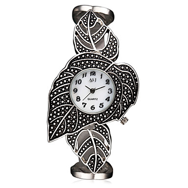 levne Pánské-ASJ Dámské Náramkové hodinky japonština Křemenný Titan 30 m Voděodolné Odolný vůči nárazu Analogové dámy Přívěšky Luxus Lístky Vintage - Bílá