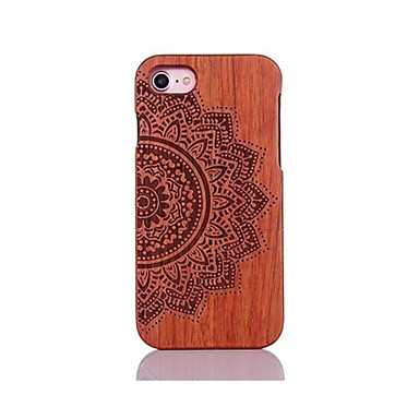 voordelige iPhone 5 hoesjes-hoesje Voor Apple iPhone 7 Plus / iPhone 7 / iPhone 6s Plus Schokbestendig / Reliëfopdruk / Patroon Achterkant Mandala / Bloem Hard Puinen