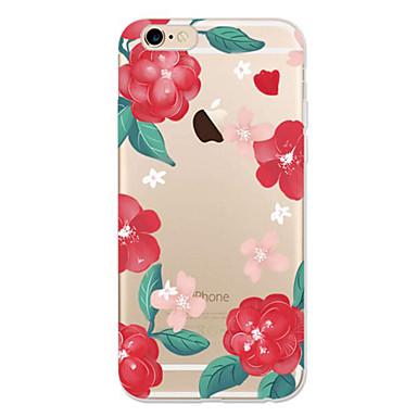 Için iPhone 7 Kılıf iPhone 7 Plus Kılıf iPhone 6 Kılıf Kılıflar Kapaklar Ultra İnce Temalı Arka Kılıf Pouzdro Çiçek Yumuşak TPU için Apple