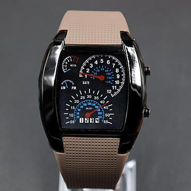 billige Herreure-Herre Armbåndsur Digital Watch Digital Gummi Sort Kalender Kreativ Digital Mørkeblå Brun Lyseblå To år Batteri Levetid / Panasonic CR2032