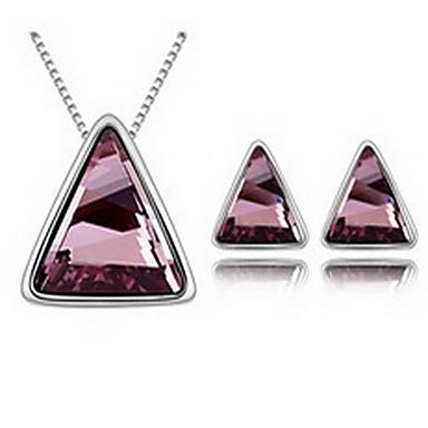 Damskie Zestawy biżuterii Kryształ Pozłacane Stop 1 Naszyjnik 1 parę kolczyków Na Impreza Prezenty ślubne