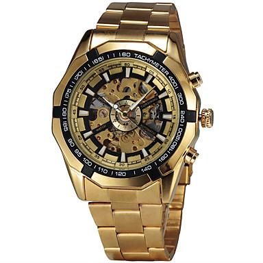 Ανδρικά Μοδάτο Ρολόι Ρολόι Καρπού μηχανικό ρολόι Αυτόματο κούρδισμα Ελβετός Υψηλής Ποιότητας κράμα Μπάντα Πεπαλαιωμένο Καθημερινά