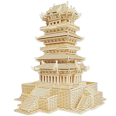 Drewniane puzzle Znane budynki Chińska architektura Dom profesjonalnym poziomie Drewniany 1pcs Dla dzieci Dla chłopców Prezent