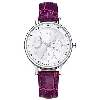 Pentru femei Ceas La Modă Quartz / PU Bandă Casual Negru Alb Roșu Violet