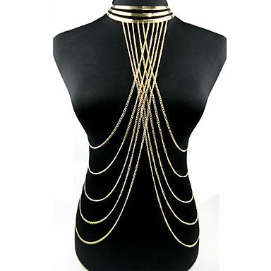 Biżuteria Łańcuch nadwozia / Belly Chain Stop Gold Artystyczny Modny Biżuteria kostiumowa Na Prezenty bożonarodzeniowe Impreza Specjalne