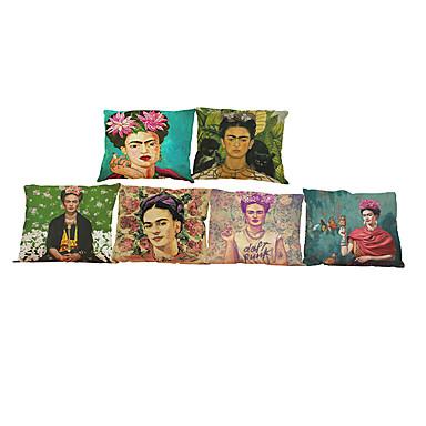 6 szt Bielizna Pokrywa Pillow Poszewka na poduszkę, Jendolity kolor Geometryczny Textured Styl plażowy Tradycyjny / Classic Wałek