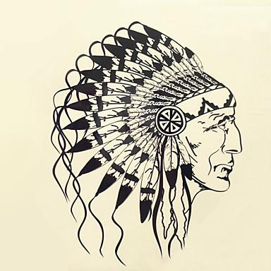 1 개 할로윈 문신 풀 컬러 문신은 더 큰 버전 방수 머리 초상화 스티커