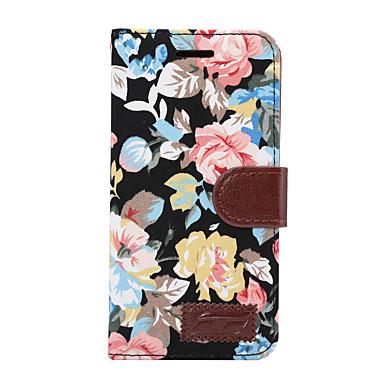 غطاء من أجل LG G3 LG LG G5 LG G4 حامل البطاقات محفظة مع حامل قلب غطاء كامل للجسم زهور قاسي جلد PU إلى