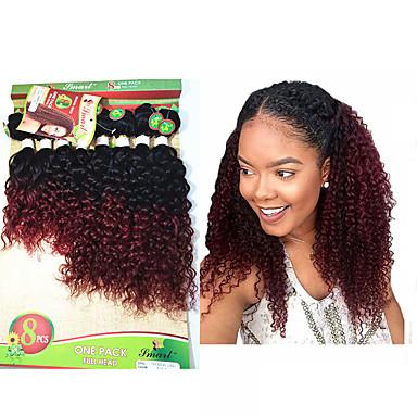 Tissage Naturel · Lot de 8 Cheveux Brésiliens Kinky Curly Ondulation  profonde 10A Cheveux Vierges Naturel A Ombre 8 94b62ddfbb6