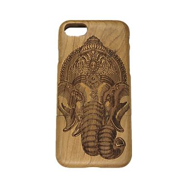 Varten Koristeltu Etui Takakuori Etui Elefantti Kova Puu varten Apple iPhone 7