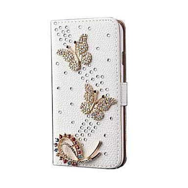 Pentru Titluar Card Cu Stand Maska Corp Plin Maska Fluture Greu PU piele pentru Apple iPhone 6s Plus/6 Plus iPhone 6s/6