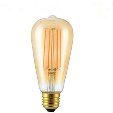 1adet 4w e26 / e27 led filament ampuller st64 4 lady avizesi dekoratif kısılabilir sıcak beyaz 300-350lm 2300-2800k ac 85-265v