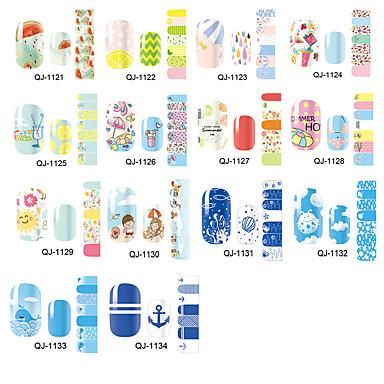 1 Sanat Sticker Nail Su Transferi Çıkartmaları Makyaj Kozmetik Sanat Tasarım Nail
