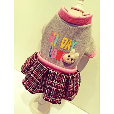Pies Płaszcze Bluzy Suknie Ubrania dla psów W stylu brytyjskim Beige Gray Bawełna Nylon Rayon/Poliester Kostium Dla zwierząt domowych