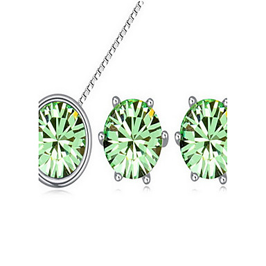 Dame Seturi de bijuterii Cristal Aliaj 1 Colier 1 Pereche de Cercei Pentru Petrecere Cadouri de nunta