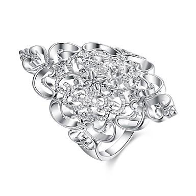Κρίκοι Καθημερινά Causal Κοσμήματα Χαλκός Επάργυρο Γυναικεία Δαχτυλίδι 1pc,7 8 Ασημί