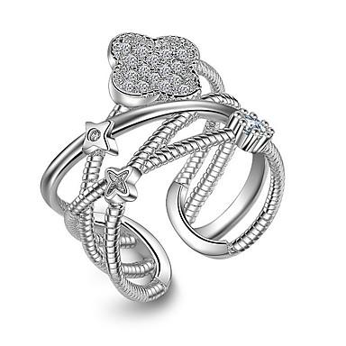 Yüzükler Düğün Parti Günlük Mücevher alaşım Kübik Zirconia Gümüş Kaplama Midi Yüzükler Evlilik Yüzükleri Eklem Yüzükleri 1pc,Tek Beden