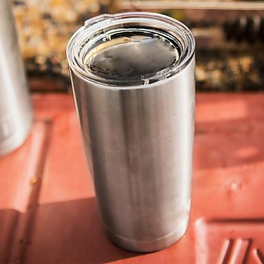 răcitoare de hoinar, vid izolat uscător de rufe din oțel inoxidabil, argint, 20 oz