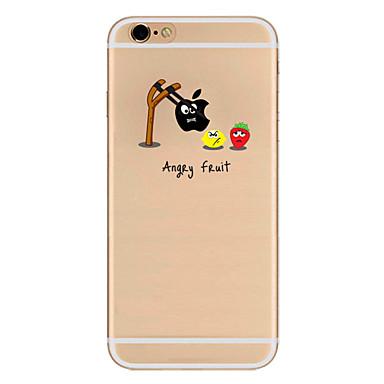 Na Etui iPhone 7 Etui iPhone 7 Plus Etui iPhone 6 Etui Pokrowce Ultra cienkie Wzór Etui na tył Kılıf Zabawa z logiem Apple Miękkie