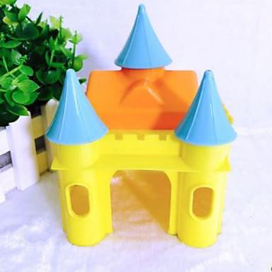 الهمستر حيوان قارض بلاستيك أقفاص الأرانب أصفر أزرق