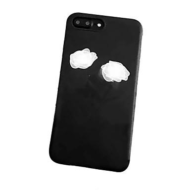 Kılıf Na Apple iPhone 7 Plus iPhone 7 Odporne na wstrząsy Szron Wzór Czarne etui Kwiaty Miękkie TPU na iPhone 7 Plus iPhone 7 iPhone 6s