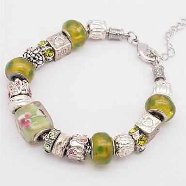 نساء أساور السلسلة والوصلة موضة مصنوع يدوي زجاج سبيكة أخرى مدلاة Alphabet Shape قلب الحب مجوهرات من أجل الذكرى السنوية هدية