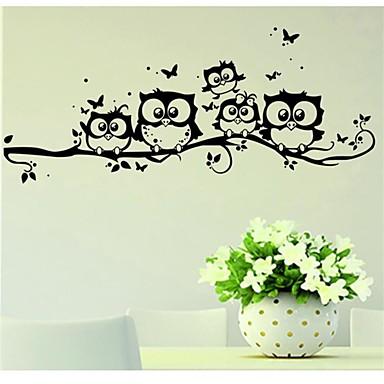 Eläimet Wall Tarrat Lentokone-seinätarrat Koriste-seinätarrat, Vinyyli Kodinsisustus Seinätarra Seinä Lasi / WC