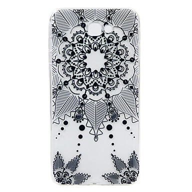 Etui Käyttötarkoitus Samsung Galaxy J7 Prime Koristeltu Kuvio Takakuori Lace Printing Pehmeä TPU varten J7 Prime J2 Prime