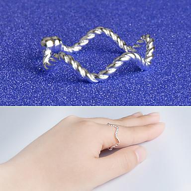 Pierścionki Specjalne okazje Codzienny Casual Biżuteria Stop Posrebrzany Obrączki Pierscionek Pierścionki na palec środkowy 1szt,Jeden