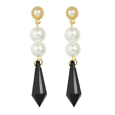 Κρεμαστά Σκουλαρίκια Κοσμήματα Γυναικεία Causal Μαργαριτάρι Κράμα 1 ζευγάρι Μαύρο
