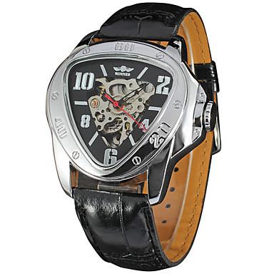 Męskie zegarek mechaniczny Zegarek na nadgarstek Do sukni/garnituru Modny Sportowy Nakręcanie automatyczne Kalendarz Skóra naturalna Pasmo