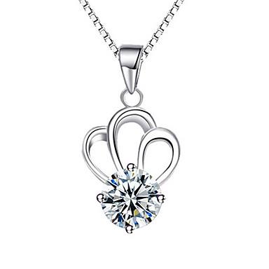 Γυναικεία Μενταγιόν Crown Shape Ασήμι Στερλίνας Βασικό Εξατομικευόμενο Μοντέρνα Κοσμήματα Για Καθημερινά Causal