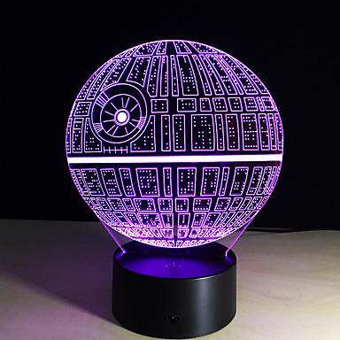 kuoleman tähti 3d illuusion yövalo johti 7 värimuutos pöytä pöytävalaisin valaistus sisustus gadget valaisin mahtava lahja lapsille
