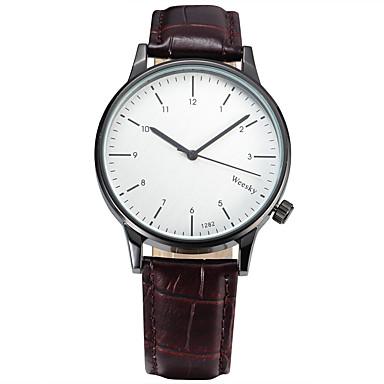 للرجال ساعة رياضية ساعات فاشن ساعة المعصم كوارتز سويسري مصمم جلد طبيعي فرقة عتيقة عادية متعدد الألوان