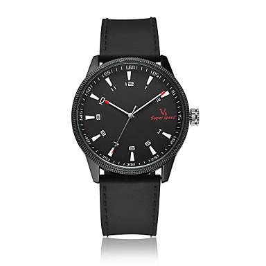 V6 Bărbați Quartz Ceas de Mână / cald Vânzare Silicon Bandă Casual Modă Negru