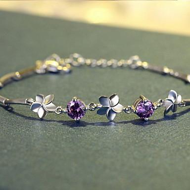 Βραχιόλια με Αλυσίδα & Κούμπωμα Μοντέρνα Επάργυρο Κοσμήματα Βυσσινί Κοσμήματα Για 1pc