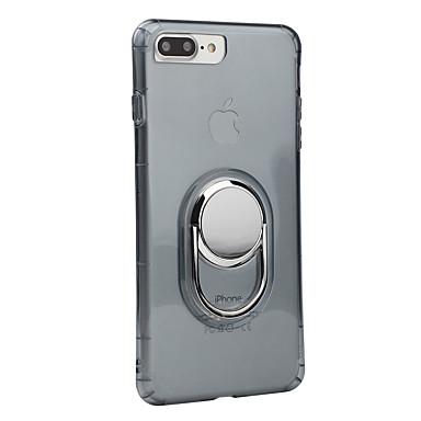 Na iPhone 7 iPhone 7 Plus iPhone 6 Etui Pokrowce Odporne na wstrząsy Uchwyt pierścieniowy Etui na tył Kılıf Solid Color Miękkie