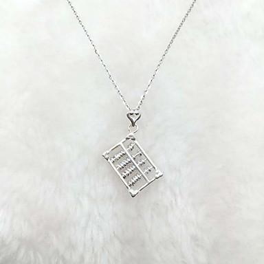 Kadın Kolye Uçları Som Gümüş Basic Tasarım Çok güzel minimalist tarzı Moda Gümüş Mücevher Için Günlük 1pc