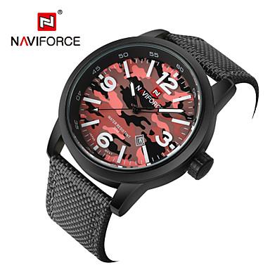 Męskie Sportowy Wojskowy Modny Zegarek na nadgarstek Kwarcowy Kalendarz Tkanina Pasmo Postarzane Na co dzień Wielokoloroe