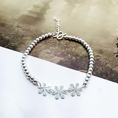 Brățări cu Lanț & Legături La modă stil minimalist Plastic Flower Shape Argintiu Bijuterii Pentru 1 buc