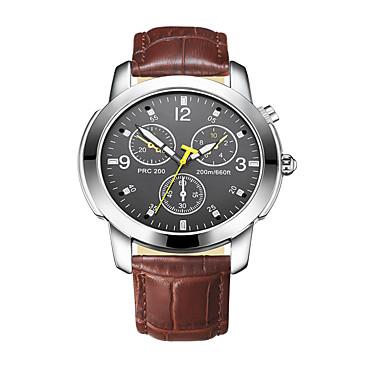 Ανδρικά Έξυπνο Ρολόι Μοδάτο Ρολόι Ψηφιακό / Δέρμα Μπάντα Καθημερινά Καφέ
